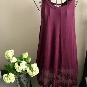 Marlow Tops - Marlow wine colored tank XL
